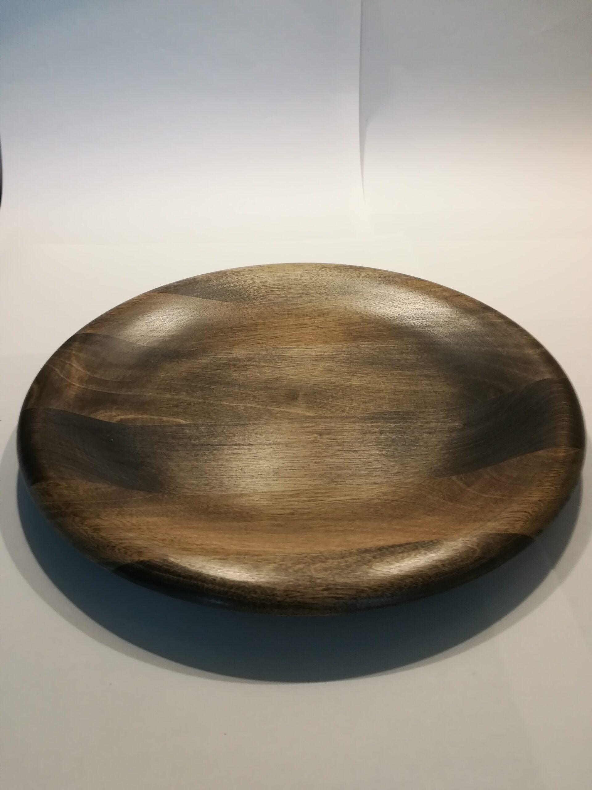 Dreid tallerken/fat i Norsk bjørk 25cm.